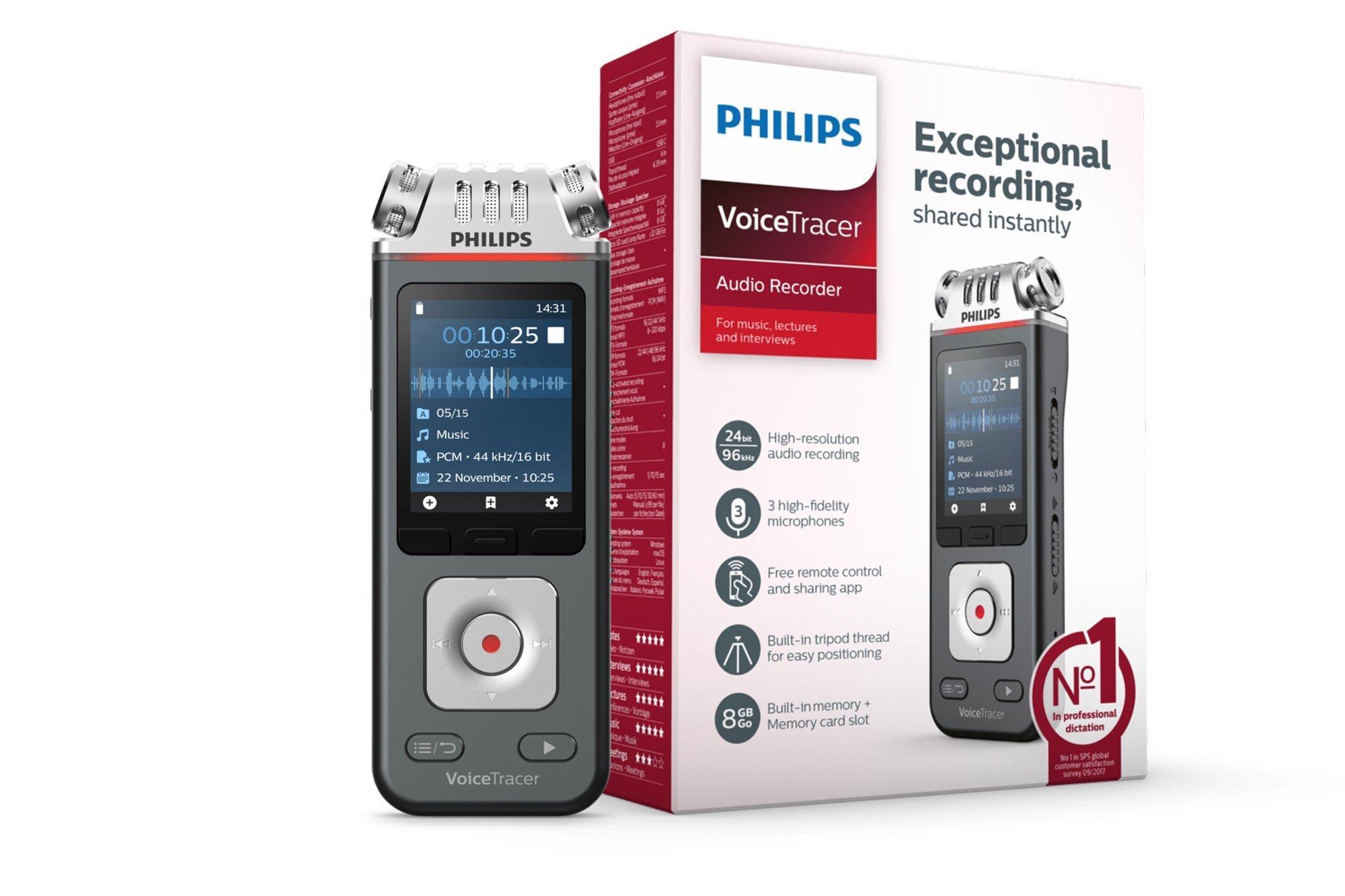 Philips VoiceTracer Audio Recorder DVT6110 8GB