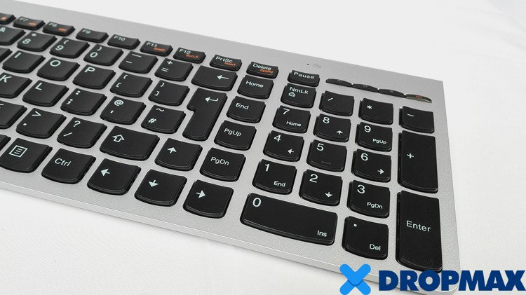 b5a64e0c97e Lenovo ZTM600 Wireless Keyboard SK-8861 & Touch Mouse w/USB Bluetooth  Receiver