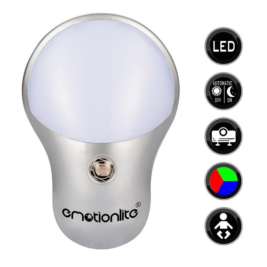 Lampka nocna LED RGB z czujnikiem zmierzchu