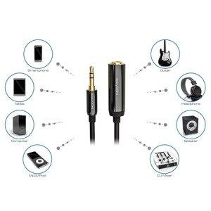 deleyCON 0.2m audio adapter jack 3.5mm 6.3mm